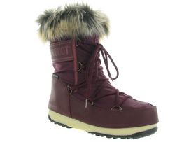Moon boot apres ski bottes fourrees mb w.e monaco low bordeaux