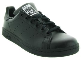 ARTISTE2 FILLE AH1516 STAN SMITH JUNIOR:Cuir lisse/Noir/Noir