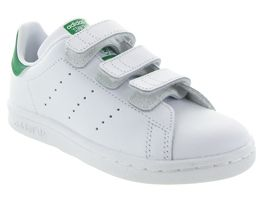 FLIPER STAN SMITH CADETS VELCRO:Synthétique/Blanc/Blanc