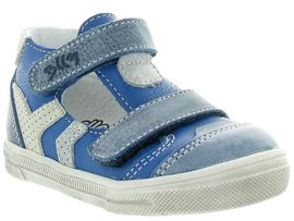 ETOILE GINO BB:Cuir lisse/Bleu/Jeans