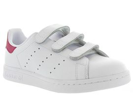 Adidas baskets et sneakers stan smith velcro adulte blanc