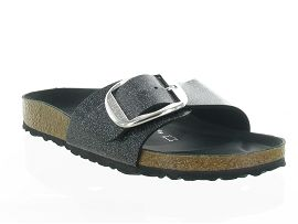 MILANO DESERT SOILE MADRID BIG BUCKLE GLITTER:Synthétique/Gris/Anthracite