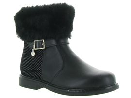 MB FAR SIDE LOW FUR TARTAN SIMOUTE:Cuir lisse/Noir/Noir