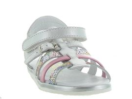 MADRID BIG BUCKLE MINI:Cuir laminé/Gris/Argent