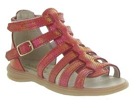 MADRID BIG BUCKLE GLITTER PLAGE:Cuir laminé/Rouge/