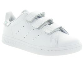DAMAS STAN SMITH VELCRO:Synthétique/Gris/Argent