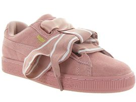 BASKET SUEDE HEART SATIN<br>Nubuck Rose Rose